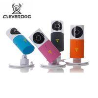 bebek interkom toptan satış-Zeki Köpek Kablosuz Wifi Bebek Monitörü 720 P IP Kamera Akıllı Uyarılar IR Nightvision Interkom Wifi Kamera Kamera iOS Android Için DOG-1W