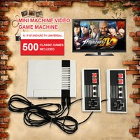 Wholesale Wholesalers Game Console System - Mini TV Video Handheld Game Console Entertainment System Built-in 500 Classic Games For For Nes Games PAL&NTSC DHL Free shipping