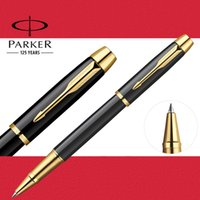 Wholesale Executive Ball Pen - Full Metal PARKER IM roller ball pen Business Executive Parker rollerball Pen as Luxury gift Writing Office Supplies