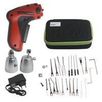 klom elektrische gewehr großhandel-KLOM Cordless Elektroschloss Pick Gun Auto Pick Guns Lockpicking Bauschlosserwerkzeuge