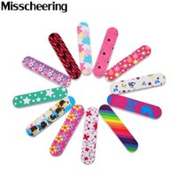 Wholesale professional nails designs - Wholesale- 10pcs Professional Mini Nail Art File Buffer Mix Random Designs Durable Sandpaper for Manicure Nail Tools