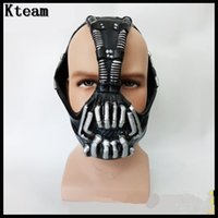 Wholesale Bane Mask Batman - Bane Masks Batman Movie Cosplay Props The Dark Knight Latex Mask for Halloween