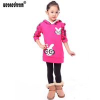 Wholesale Thick Hoodies For Girls - Wholesale- New Children Hoodie Winter Autumn Girls Sweatshirts Long Sleeves Thick Winter Warm Fleece Hoodies for Teens 4-12T Girls clothes