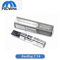 ingrosso confezione verticale-Autentico Justfog C14 Atomizzatore Fondo Serbatoio Vape Serbatoio 1.8 ml E Sigaretta Atomizzatore Semplice Pacchetto Vendita Calda