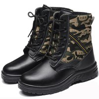 Commercio all'ingrosso 2016-Men WorkSafety Scarpe Uomo inverno caldo camuffamento calzatura antinfortunistica antiusura olio impermeabile pattini di combattimento Big Size36-46