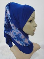 Wholesale New Style Hijab Scarf - Wholesale- H1019a new style two layers small girl hijab,mixed colors,fast delivery