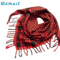 Wholesale wholesale arab shemagh - Wholesale- New Arrival 1PC Unisex Fashion Women Men Arab Shemagh Keffiyeh Palestine Scarf Shawl Wrap nr30
