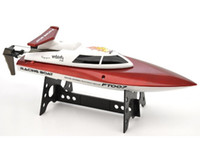 Wholesale Water Control Boats - Wholesale- F17890 1 FeiLun FT007 2.4G 4CH High Speed Racing Flipped RC Boat Remote Control Speedboat Water Cooling with Speed 25KM H