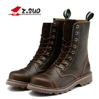 Wholesale British Coupling - Martin and British style leisure boots high boots size student shoes leather motorcycle boots winter thick bottom couple