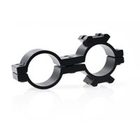 "Wholesale Double Ring Rifle Scope Mount - 25mm 24.7mm 1"" Double Ring 20mm Rail Mount Adapter, Rifle Scope Torch Bracket"