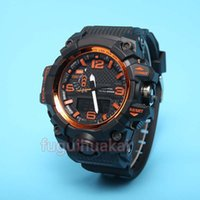 Wholesale Luminous Watches For Men - 2017 New Gw1000 relogio men's sports watches, LED chronograph wristwatch, military watch, digital watch, good gift for men & boy, dropship