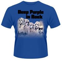 Wholesale Gentleman T Shirts - New 2017 Men'S Funny Deep Purple 'In Rock' Design T Shirt Male Novelty Tops Gentleman Custom Printed Short Sleeve Tees