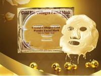 Wholesale Skin Cleaning Gel - Gold Powder Collagen Albumen Crystal facial Mask Girl Woman Skin Care Gel face mask masks Facial Peels free ship