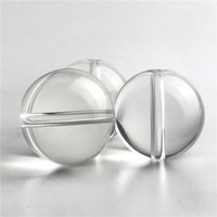 Wholesale ball top water resale online - New Glass Carb Cap for Quartz Smoking Nails Flat Top Domeless Quartz Nail OD mm Glass Beads Ball Caps Thick Glass Water Pipes