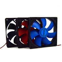 Wholesale Heatsink Fan cm Computer case power supply cpu led lighting mute Cooling Glowing fan