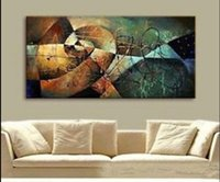Wholesale Hk Panels - Framed Pure Hand Painted Modern Wall Decor Abstract Art Oil Painting On High Quality Canvas.Multi customized sizes hk