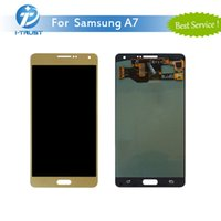 Wholesale S3 White Screen Replacement - OLED LCD For Samsung A7 2016 A7100 Color Black Golden White High Quality Repair Replacement AAA Quality With Free DHL Shipping