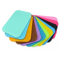 Wholesale Table Bar Mats - Silicon Heat Resistant Pads Pan Placemats Pot Holders Kitchen Table Mat Bar Mats Phone Holder Flexible Durable Non Slip Thicken Pads