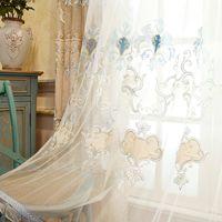 Wholesale Gauze Curtain Fabric - Modern Simple Jacquard Curtain Chenille Fabric Embroidery Curtain High Quality Curtain For Live Room Bedroom #Gauze