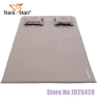 Wholesale Breaks Pads - Wholesale- 2 person automatic inflatable cushion self inflating mattress moisture-proof pad lunch break mat BBQ outdoor camping mattress
