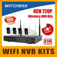 Wholesale Standalone Ip Camera - Hot 4CH Wireless NVR Kits 720P WIFI IP Camera IR Night Vison Security Surveillance Standalone System