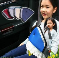 Wholesale Triangles Safety Wholesale - Breathable Triangle Car Safety Belt Protector Adjuster For Child, Baby, Seat Belt Cover, Neck protection Positioner