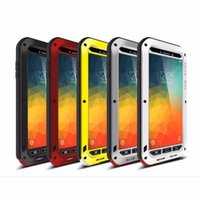 Wholesale Love Mei Powerful - For Samsung Galaxy Note 5 Love Mei Powerful Case Waterproof Shockproof Aluminum Case Cover + Tempered Glass free shipping