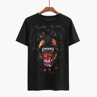 Wholesale Men Designer Tee Shirts - Fashion Summer Unisex Tee Couple Shirts For Men Short Sleeve Dog Head Print Poloshirt Pullover 3D Designer T Shirts For Men and Women