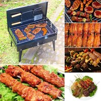 Wholesale Folding Picnic Camping Charcoal BBQ Grill Adjustable Height Portable Garden barbecue Grill Broiler Outdoor Cooking Tool H16493