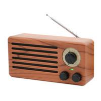 iphone boombox achat en gros de-Rétro FM Radio Bluetooth Grain Haut-Parleur Numérique Stéréo Mini Lecteur De Musique Boombox Support TF USB AUX Sound Box Pour Iphone Xiaomi