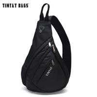 Wholesale Morden Men - Wholesale- TINYAT Men Functional multilayer Bag Cool Casual Chest Bag Pack Morden Outside Large Capacity Messenger bag Pack T509 Black