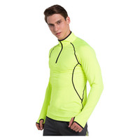 Wholesale Opens Clothes - Open chain tights men sports running fast stretch breathable fitness clothes
