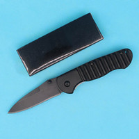 Wholesale B12 Drops - Promotion Butterfly B12 Tactical Folding Knife 440C 57HRC Black Drop Point Blade Outdoor Survival Gear With Retail Box