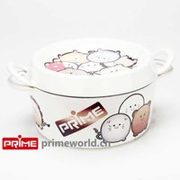 Wholesale Prime Enameled Cast Iron Covered Dutch Oven Casserole White Color Painting Enamel Cookware Round Doufeu Cooking Dish cute animals