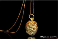Wholesale Green Pine Cones - high quality pendant sterling silver cherry necklace 24k gold plating pine cone shape