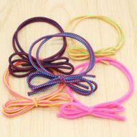 Wholesale Colorful Hair Elastic - Jmyy Jewelry 2017 New Elastic Bowknot Hair Rubber Bands Colorful Hair Jewelry For Women Hair Accessories