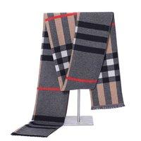 Wholesale Silk Shawl Stripe - Men's Scarf Super Soft Luxurious Cashmere Feel Silk Scarves Tassel Shawl Wraps Spring Autumn Winter Scarf for Men