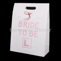 Grossiste-White Pink Bride à être sac de cadeau Hen Party Girls Night Out Night Accessoire
