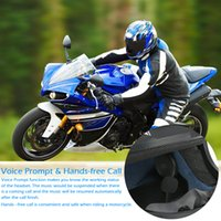 Wholesale Wireless Headphones Helmets - Wholesale- Wireless Bluetooth Headset Motorcycle Helmet Headphone Bluetooth Stereo Music Earphone Handsfree w Mic for Phone