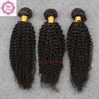 remy наращивание волос шить оптовых-100% необработанные девственные бразильские волосы кудрявый вьющиеся человеческие волосы плетение пучки 3 шт. лучшее качество шить наращивание волос утка Реми