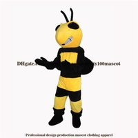 Wholesale Insect Mascot Costumes - High quality carnival adult bee mascot costume free shipping,Real pictures deluxe the party insect wasp mascot costume factory direct
