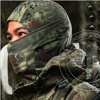Wholesale wargame mask resale online - Chiefs Rattlesnake Tactical Airsoft Hunting Wargame Breathing Dustproof Face Balaclava Mask Motorcycle Skiing Cycling Full Hood
