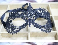 Wholesale black white mask party supplies for sale - Group buy Party Supplies Lace Halloween Masks Lovely Party Venetian Masquerade Half Face Lily Woman Lady Sexy Mardi Gras Half Masks Venetian