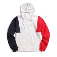 Wholesale 17 Panel - 17 high quality hot stitching color matching windbreaker jacket men and women triangle coat palace S--XL
