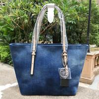 Wholesale Nwt Fashion - new arrival fashion women shoulder bag denim Handbag NWT Colors SKUGU086