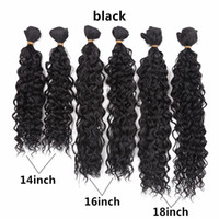 Wholesale synthetic curly hair wefts - kinky curly Hair jerry Curly Sew in Weave Synthetic Hair Wefts Full Head Sew in Weave synthetic Hair Extensions ombre purple 6pcs 14-18 inch