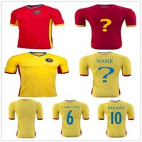 Wholesale Soccer Team Numbers - Romania Soccer Jersey 6 CHIRICHES 10 MAXIM Customized Any Name Personalize Any Number Team Red Road Yellow Football Shirt Uniform Shirt Kits