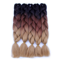 Wholesale Dyed Hair Wigs - 100 grams of chemical fiber big braids mine ghost dirty braid dyed wig