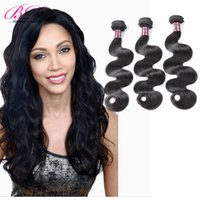 Wholesale Body Setting - BD Body Wave Human Hair Extensions Brazilian Hair Bundles Machine Weft 3 4 Bundles One Set