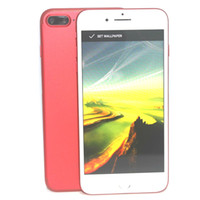 Wholesale goophone i7 Plus android smartphone Quad Core MTK6580 GB RAM GB Inch G WCDMA Fake g lte unlocked cell phones